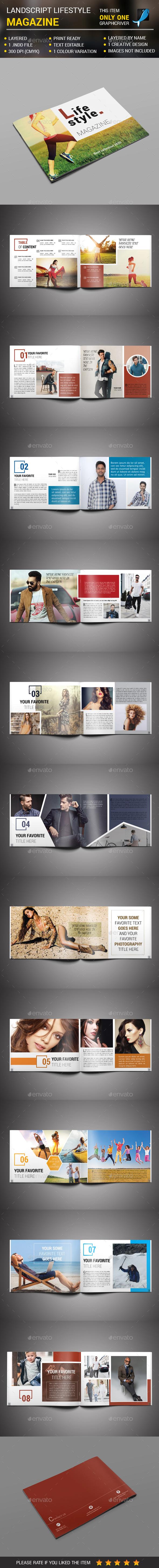 GraphicRiver Landscript Lifestyle Magazine 21163654