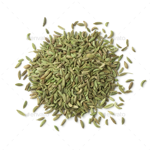 Heap of green egyptian anise fruit - Stock Photo - Images