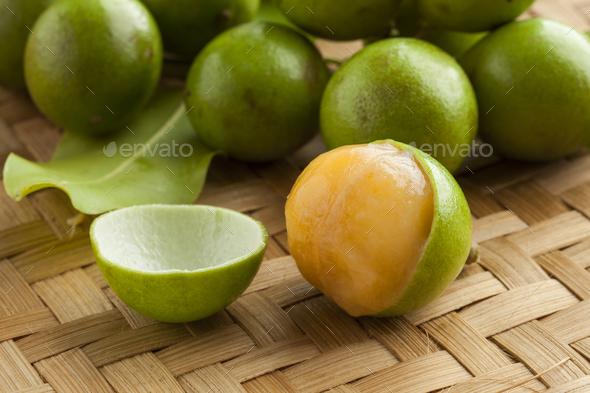 Fresh peeled quenepa fruit - Stock Photo - Images