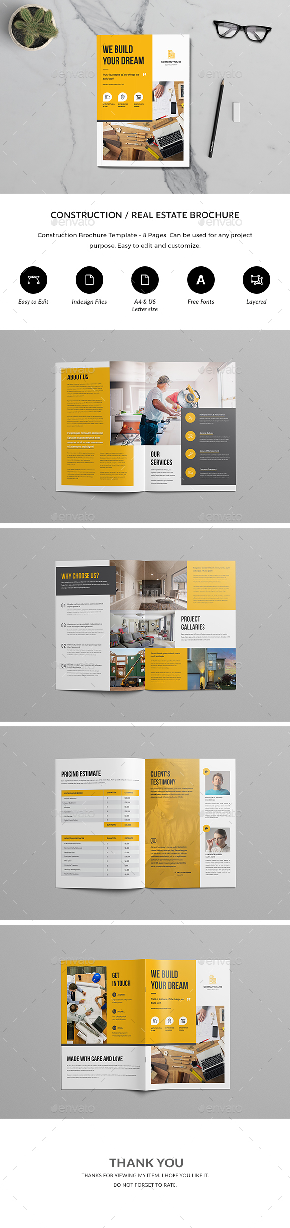 GraphicRiver Construction Brochure 21163681