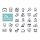 Business and finance web outline icon set - GraphicRiver Item for Sale