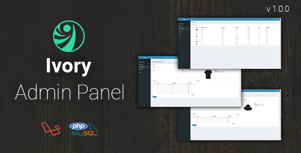 CodeCanyon Ivory Admin Panel Laravel CMS 21163851