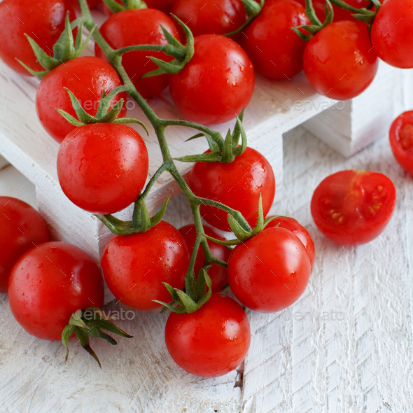 Cherry tomatoes close up - Stock Photo - Images
