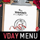 Valentines Menu Template - GraphicRiver Item for Sale