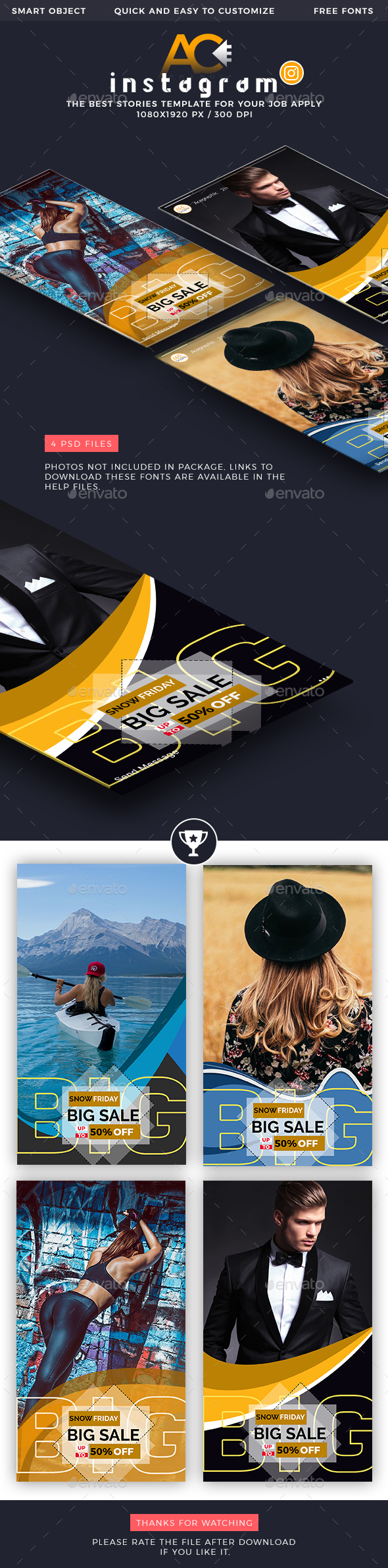 GraphicRiver Instagram Stories Banner Templates 21163947