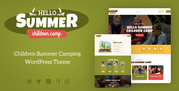 Image of Hello Summer | Childrens Camp WordPress Theme