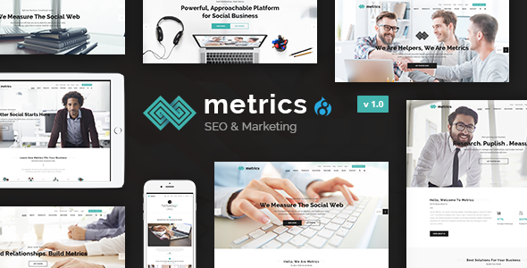 Metrics Business - SEO, Digital Marketing, Social Media Drupal 8.4 Theme