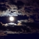 Full Moon Starry Night with Some Clouds - VideoHive Item for Sale