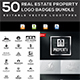 50 Real Estate Property Logo Badges Bundle - GraphicRiver Item for Sale