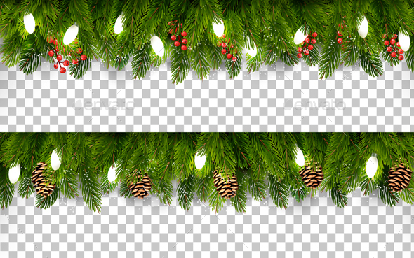 GraphicRiver Two Christmas Holiday Boards with Branches 21164101