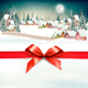 Christmas Holiday Background with Winter Landscape