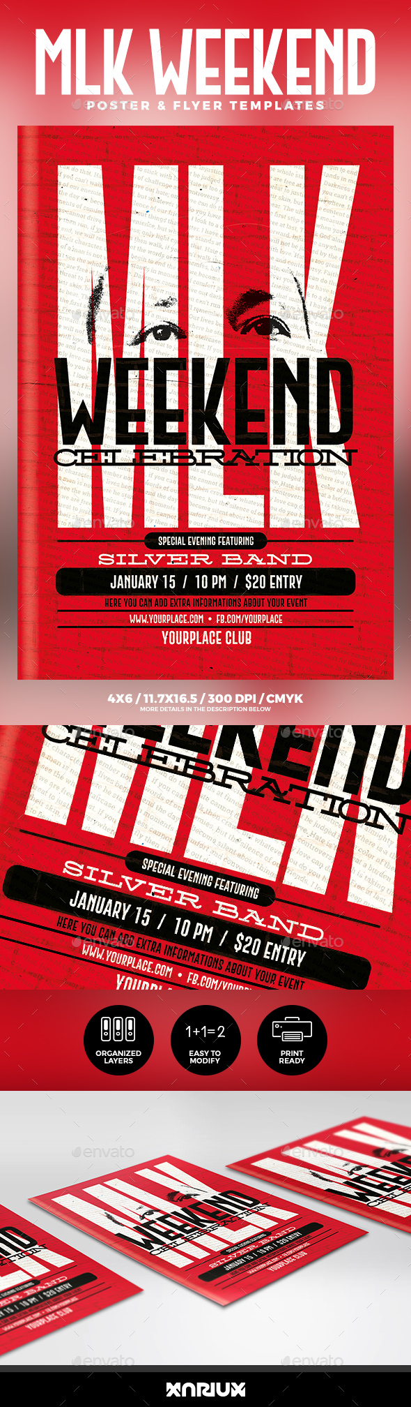 GraphicRiver MLK Weekend Party Flyer & Poster 21164167