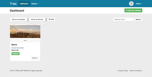 T-rex Site Builder: Visual Site Builder v2.0 - CodeCanyon Item for Sale