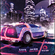 Synthwave Flyer v1 - Neon City Retrowave Poster Template