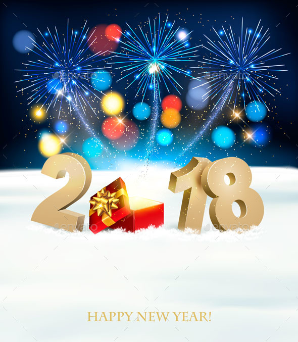 GraphicRiver Happy New Year 2018 Background With Fireworks 21164290