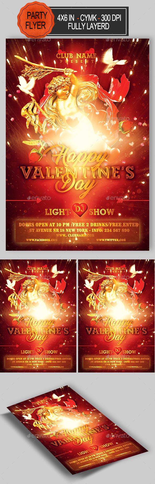 GraphicRiver Valentines Day Flyer 21164295
