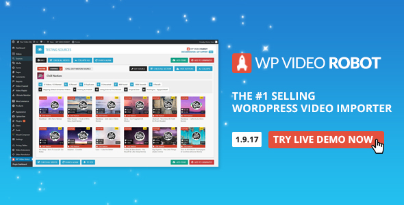 Premium Plugins v1.9.17 WordPress Video Robot - The Ultimate Video Importer for WordPress