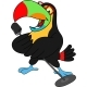 Cartoon Toucan with Microphone