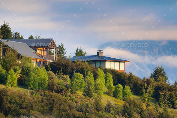 Chalet mountain houses - Stock Photo - Images