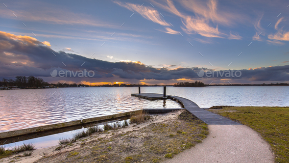 Floating swimming jetty - Stock Photo - Images