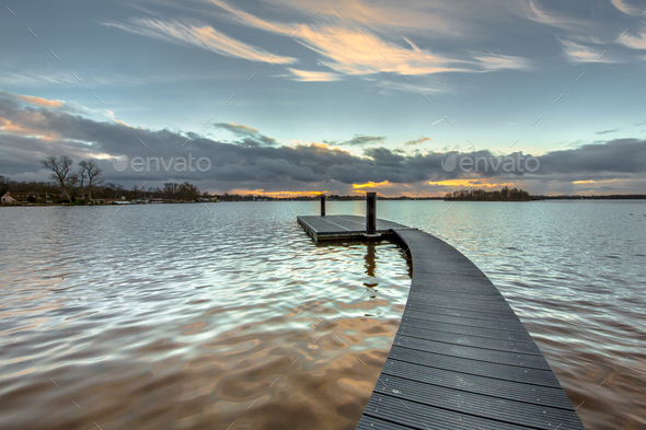 Floating jetty Paterswoldsemeer - Stock Photo - Images