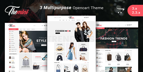 Image of Themini - Multipurpose Responsive Fashion Opencart 3.x Theme