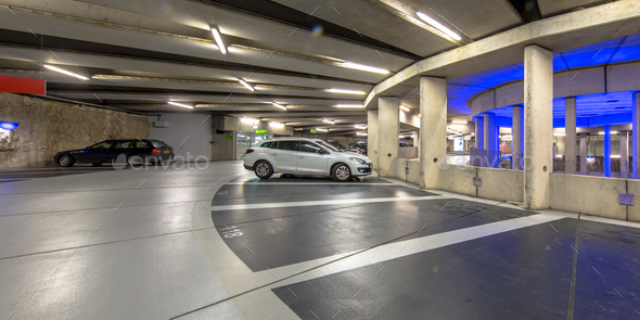 Underground parking garage - Stock Photo - Images