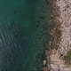 Aerial Shot of Rocky Bottom of Sea - VideoHive Item for Sale