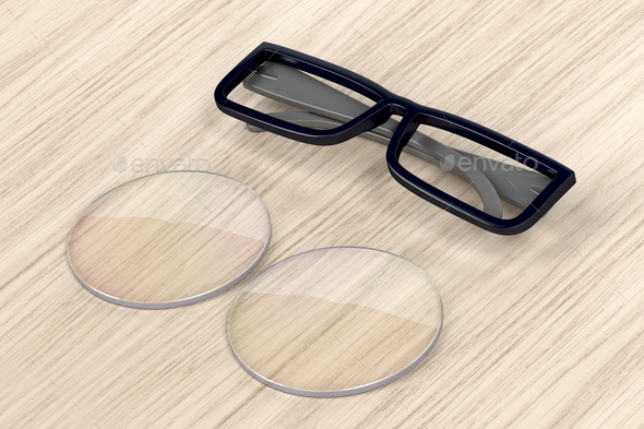 Eyeglasses frame and lens - Stock Photo - Images
