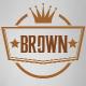 Brown Decorative Badge