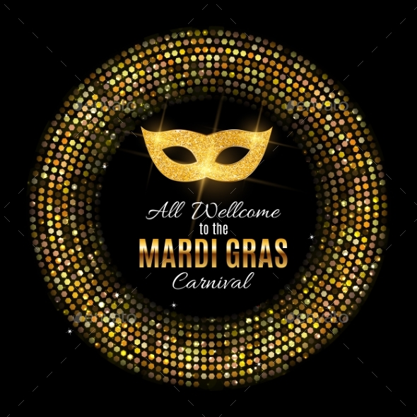 Mardi Gras Party Mask Holiday Poster Background - Miscellaneous Seasons/Holidays