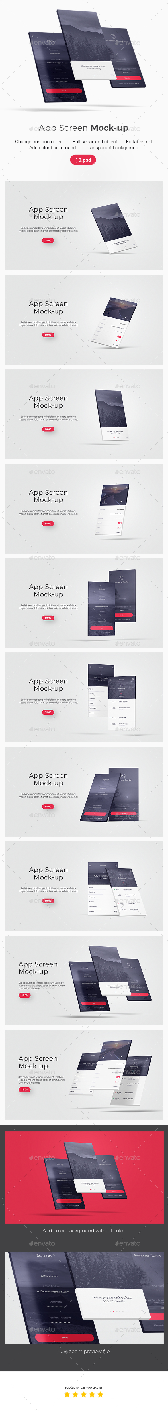GraphicRiver App Screen Mockup 21165365