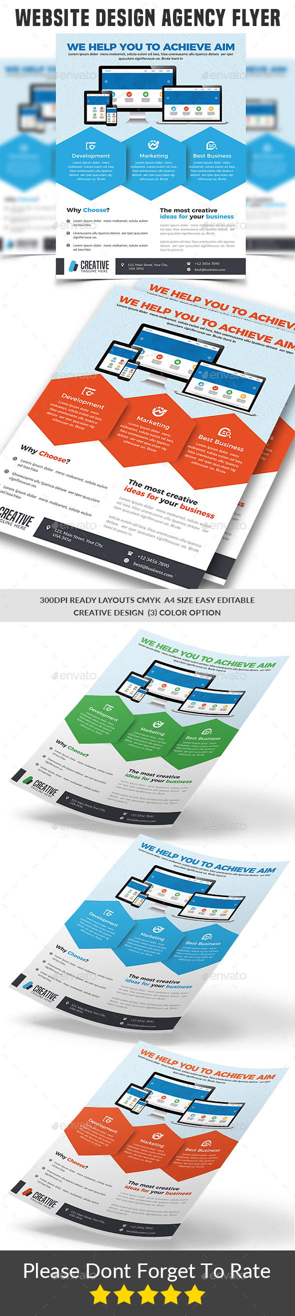 GraphicRiver Website Design Agency Flyer Templates 21165477