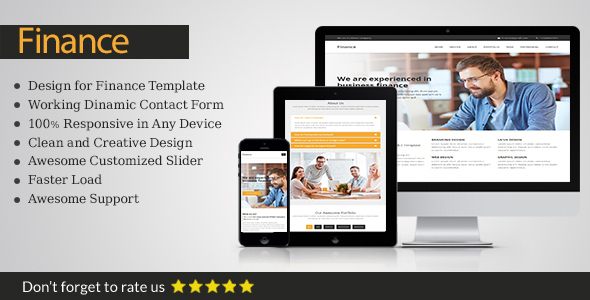 Download Finance business template            nulled nulled version