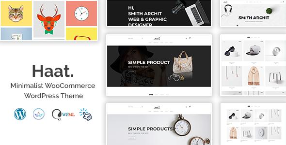 Haat - Minimalist WooCommerce WordPress Theme Free Download | Nulled