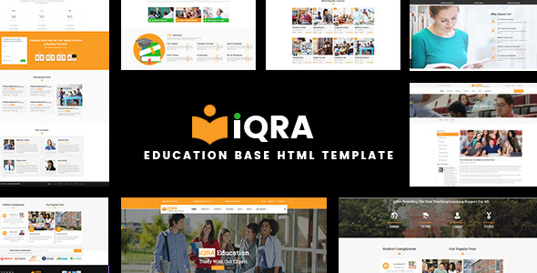 Download Education Base HTML Template - iQRA            nulled nulled version