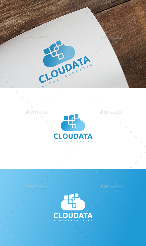 GraphicRiver Cloud Data Logo 21165779