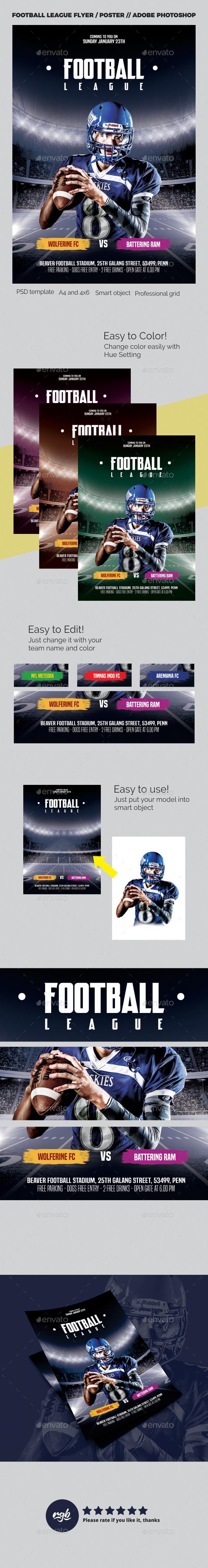 GraphicRiver Football League Flyer 21165790