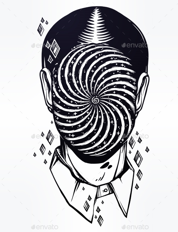 GraphicRiver Portrait of a Weird Man with Anonymous Face 21165976