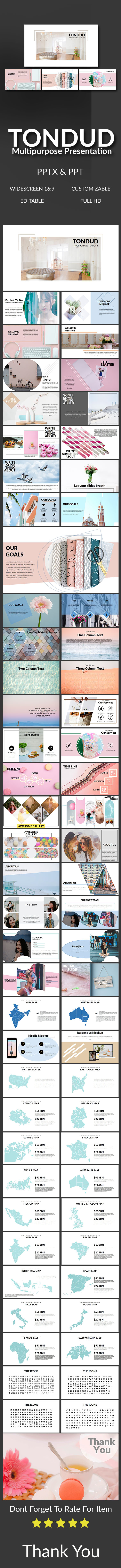 Tondud Multipurpose Presentation - Abstract PowerPoint Templates