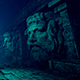 Sculptural Images In An Old Tunnel - VideoHive Item for Sale