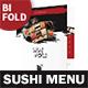 Sushi Restaurant Bifold / Halffold Menu 3