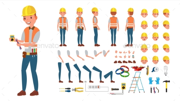 Electrician Vector - People Characters