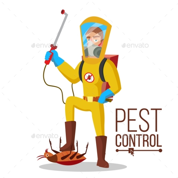 Pest Control Service Vector - People Characters