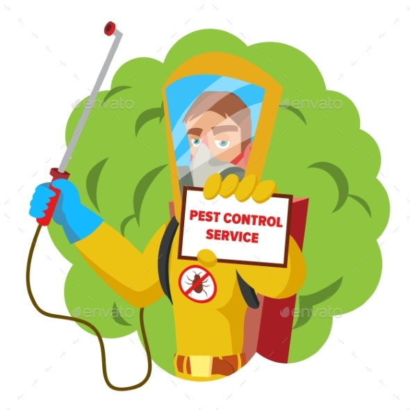 Anti Microbes Sanitation Worker Vector Concept - People Characters