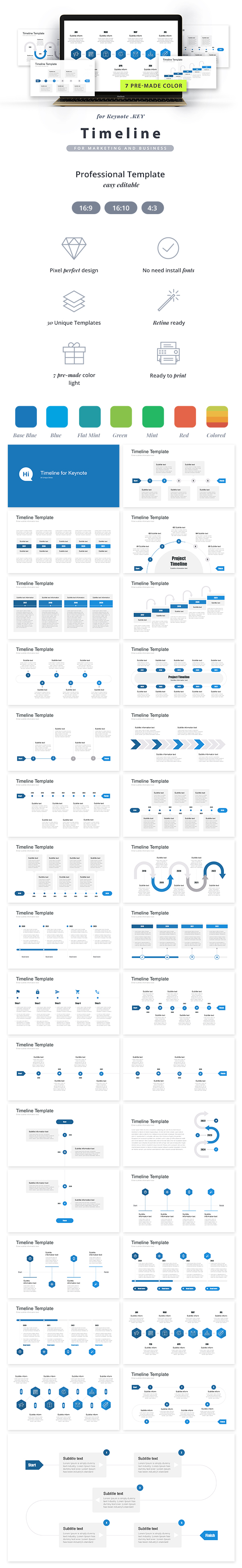 GraphicRiver Timeline Pack Keynote Template 21166220