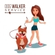 Dog Walking Service Vector