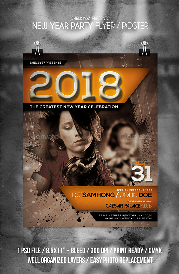 GraphicRiver New Year Party Flyer 21166245