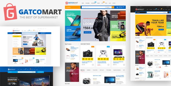 Image of Gatcomart - Mega Shop eCommerce HTML Template