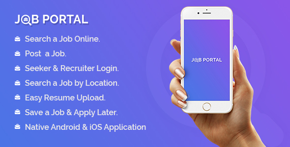 Job Portal Mobile Application With Web Portal Nulled Scripts